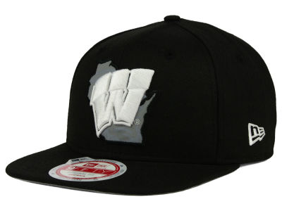 Wisconsin Badgers New Era NCAA State Flective 9FIFTY Snapback Cap