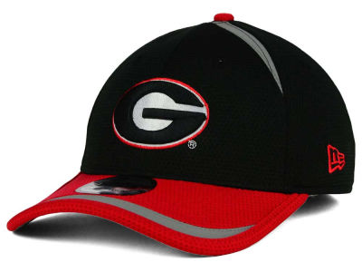 Georgia Bulldogs New Era NCAA Stripe Stretch 39THIRTY Cap