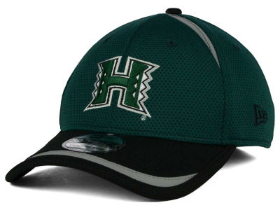 Hawaii Warriors New Era NCAA Stripe Stretch 39THIRTY Cap