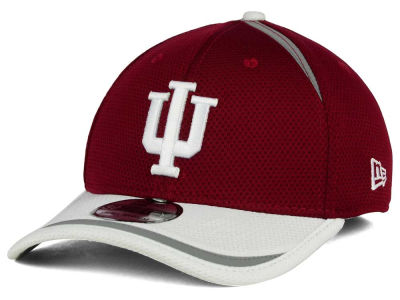 Indiana Hoosiers New Era NCAA Stripe Stretch 39THIRTY Cap