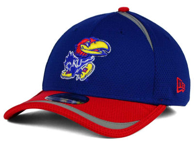 Kansas Jayhawks New Era NCAA Stripe Stretch 39THIRTY Cap