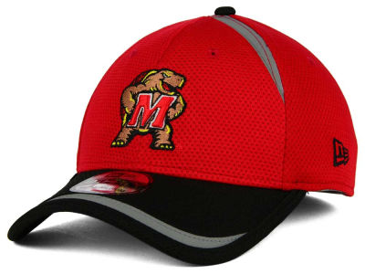 Maryland Terrapins New Era NCAA Stripe Stretch 39THIRTY Cap