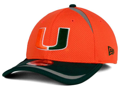Miami Hurricanes New Era NCAA Stripe Stretch 39THIRTY Cap