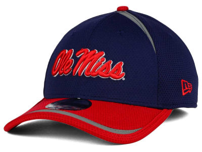 Ole Miss Rebels New Era NCAA Stripe Stretch 39THIRTY Cap