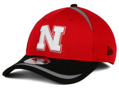 Nebraska Cornhuskers New Era NCAA Stripe Stretch 39THIRTY Cap