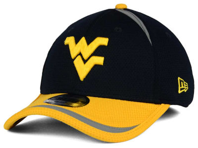 West Virginia Mountaineers New Era NCAA Stripe Stretch 39THIRTY Cap
