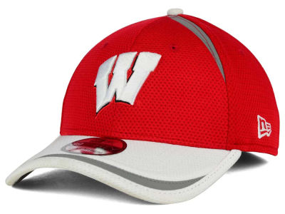 Wisconsin Badgers New Era NCAA Stripe Stretch 39THIRTY Cap