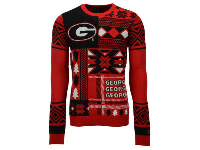 Georgia Bulldogs La Tilda NCAA Men's Patches Ugly Sweater