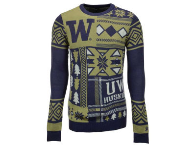Washington Huskies La Tilda NCAA Men's Patches Ugly Sweater