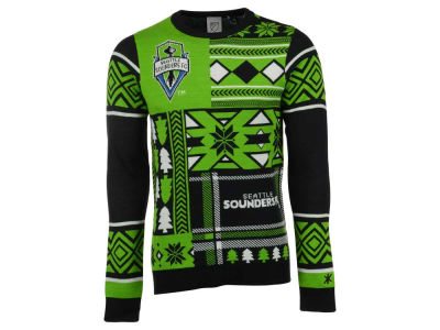 Seattle Sounders FC La Tilda MLS Men's Patches Ugly Sweater