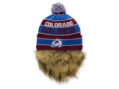 Colorado Avalanche Old Time Hockey NHL Sauk Cuff Pom Knit with Beard