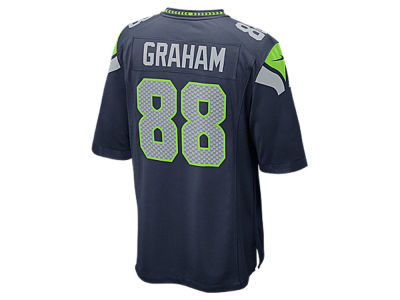 Seattle Seahawks Jimmy Graham Nike NFL Men's Game Jersey