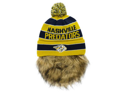 Nashville Predators Old Time Hockey NHL Sauk Cuff Pom Knit with Beard