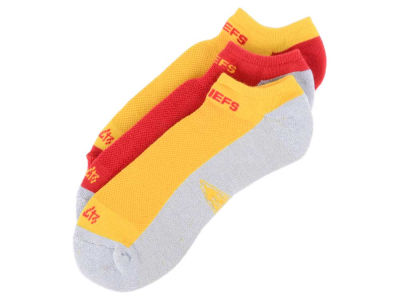 Kansas City Chiefs 3-pack Sportlite Float No Show Socks