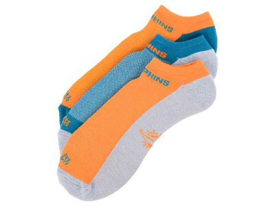 Miami Dolphins 3-pack Sportlite Float No Show Socks