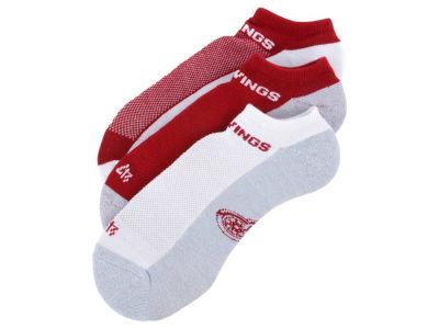 Detroit Red Wings 3-pack Sportlite Float No Show Socks
