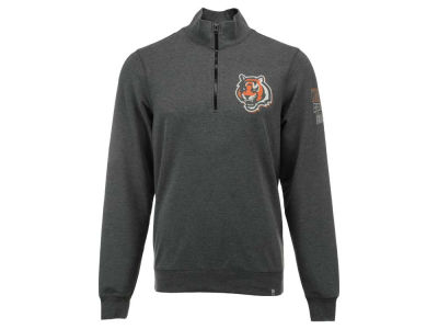 Cincinnati Bengals '47 NFL Men's Forward Peak 1/4 Zip Pullover