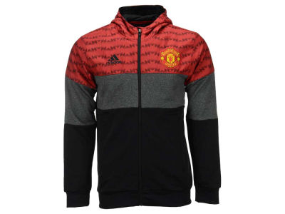 Manchester United adidas Club Soccer Men's Team Full Zip Hoodie