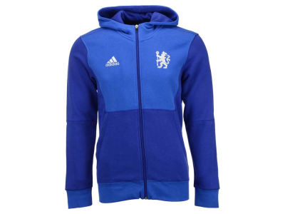 Chelsea adidas Club Soccer Men's Team Full Zip Hoodie
