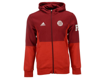 Bayern Munich adidas Club Soccer Men's Team Full Zip Hoodie