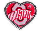 Ohio State Buckeyes Heart Metal Auto Emblem Auto Accessories