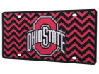 Ohio State Buckeyes Chevron Laser Tag Auto Accessories