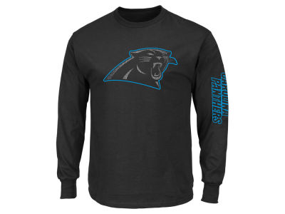 Carolina Panthers NFL Men's Up and Over Longsleeve T-Shirt
