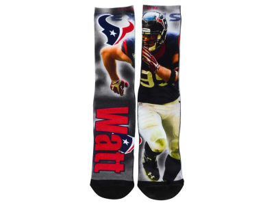 Houston Texans J.J. Watt NFL Drive Player Jersey Crew Socks