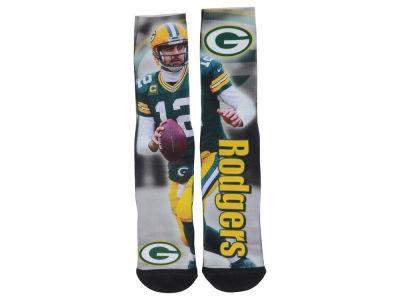 Green Bay Packers Aaron Rodgers NFL Drive Player Jersey Crew Socks