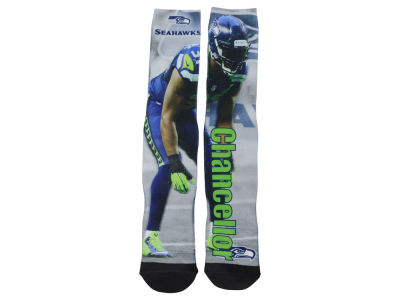 Seattle Seahawks Kam Chancellor NFL Drive Player Jersey Crew Socks