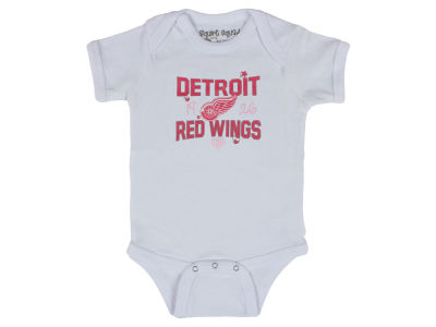 Detroit Red Wings NHL Infant Girls Lizzy 3 Piece Creeper Set