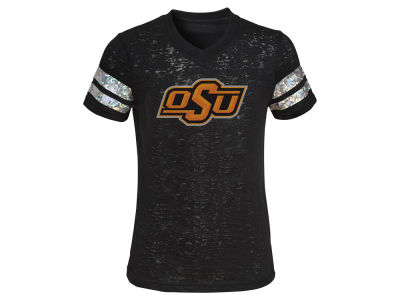Oklahoma State Cowboys adidas NCAA Youth Girls Team Shimmer T-Shirt