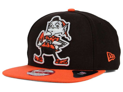 Cleveland Browns New Era NFL Wool Classic XL Logo 9FIFTY Snapback Cap