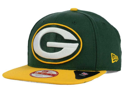 Green Bay Packers New Era NFL Wool Classic XL Logo 9FIFTY Snapback Cap
