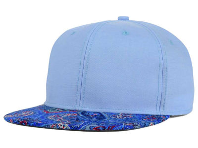 No Bad Ideas July Chambray Paisley Printed Visor Snapback Hat