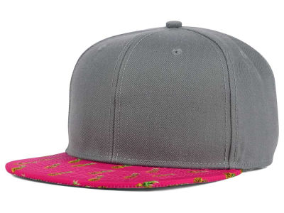 July Pineapple Printed Visor Snapback Hat