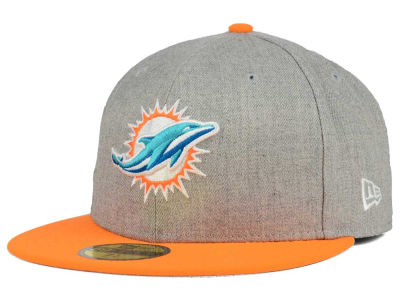 Miami Dolphins New Era NFL Heather Action 2 Tone 59FIFTY Cap