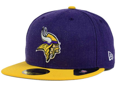 Minnesota Vikings New Era NFL Heather Action 2 Tone 59FIFTY Cap