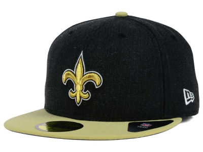 New Orleans Saints New Era NFL Heather Action 2 Tone 59FIFTY Cap