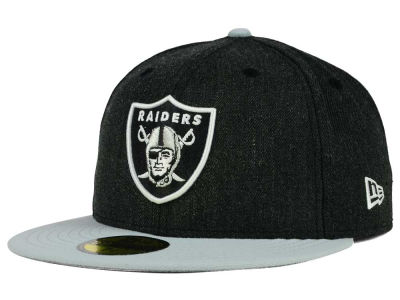 Oakland Raiders New Era NFL Heather Action 2 Tone 59FIFTY Cap