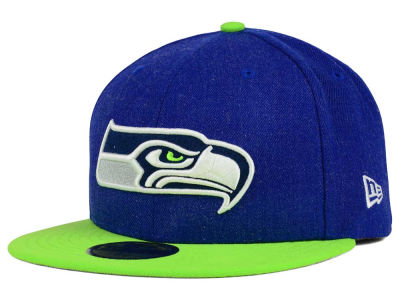 Seattle Seahawks New Era NFL Heather Action 2 Tone 59FIFTY Cap