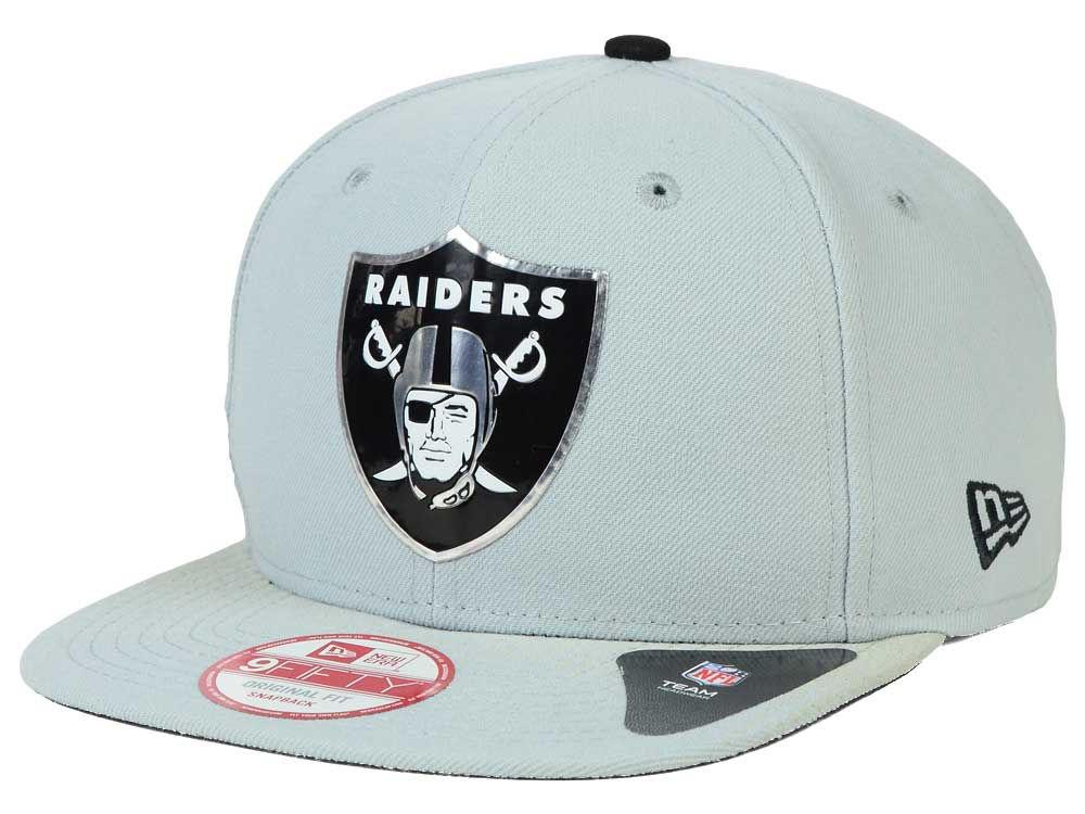 8088742ba Oakland Raiders New Era 2015 NFL Draft Redux 9FIFTY Original Fit Snapback  Cap