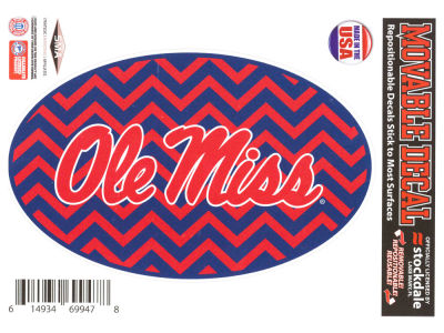 Ole Miss Rebels 5x7 Chevron Decal