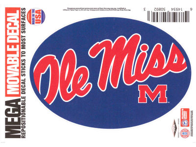 Ole Miss Rebels 5x7 Mega Decal