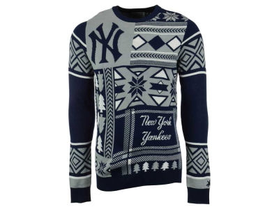 New York Yankees La Tilda MLB Men's Patches Ugly Sweater