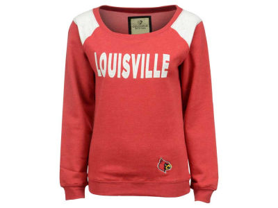 Louisville Cardinals NCAA Women's Tempest Boatneck Fleece Sweatshirt