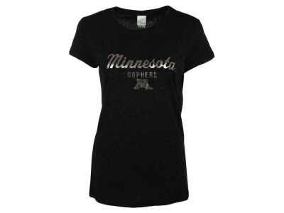 Minnesota Golden Gophers NCAA Women's Glitter Metallic T-Shirt
