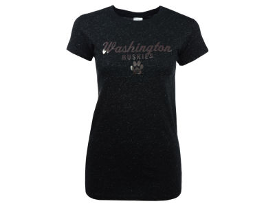 Washington Huskies NCAA Women's Glitter Metallic T-Shirt