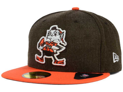 Cleveland Browns New Era NFL Heather Action 2 Tone 59FIFTY Cap