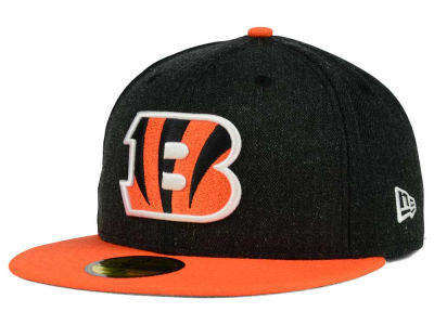 Cincinnati Bengals New Era NFL Heather Action 2 Tone 59FIFTY Cap